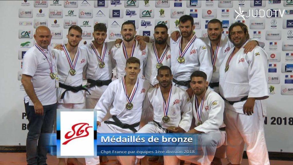 Médaillés de bronze_chpt France par équipes 1ères division 2018