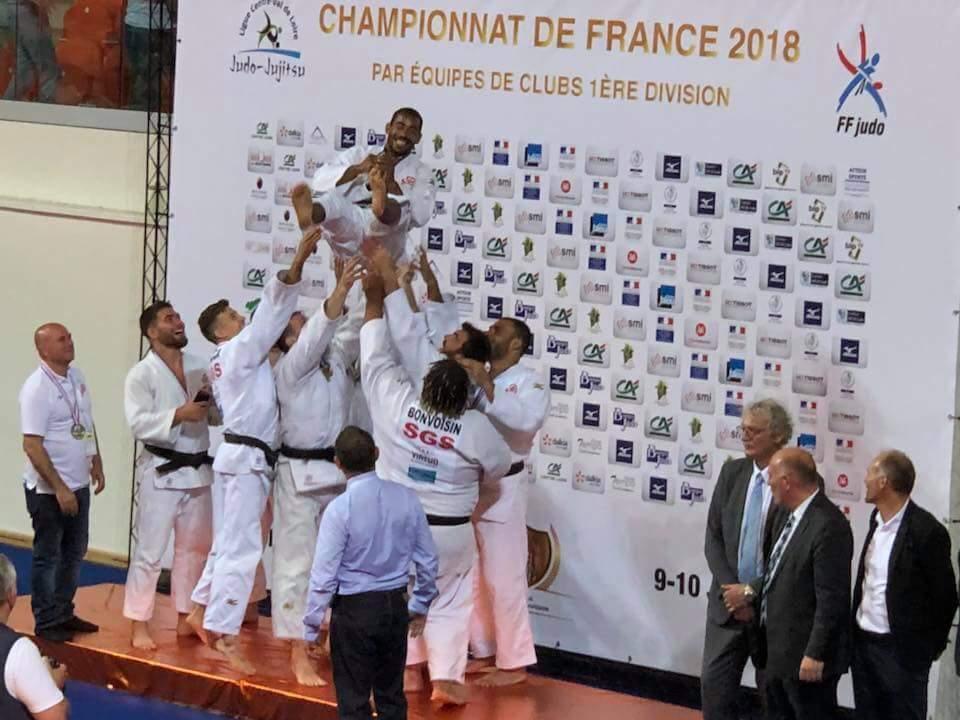 Podium_Médaillés de bronze_chpt France par équipes 1ères division 2018